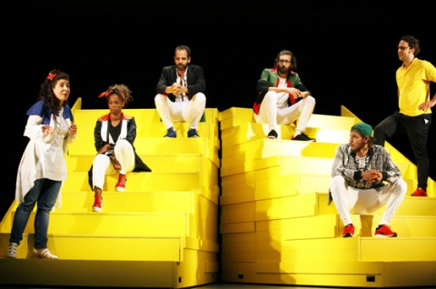 Yael Ronen & Ensemble: The Situation / Foto: Ute Langkafel Maifoto