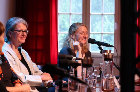 Podiumsdiskussion der Übersetzer-Werkstatt / Foto: Marie-Luise Eberhardt