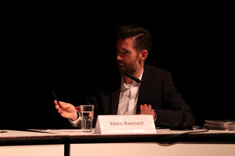 1. Juni -Jurydebatte / Foto: Marie-Luise Eberhardt