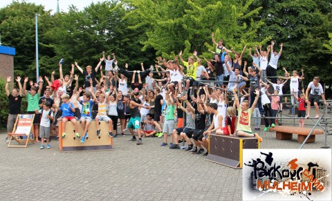 Gruppenfoto Parkour Camp Mülheim 2015