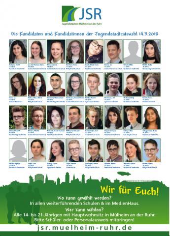 Kandidat*innen JSR-Wahl 2018