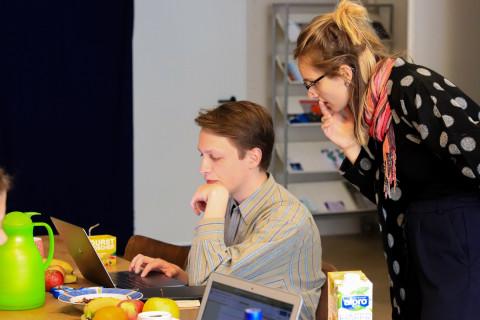 Redaktionssitzung Stücke-Blog 2019 / Foto: Marie-Luise Eberhardt