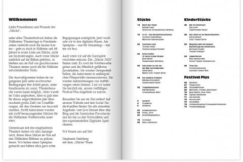 Die Broschüre zu den 46. Mülheimer Theatertagen ist da.