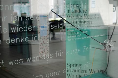 """Die vier.zentrale während der """"Stücke 2021"""" / Foto: Caroline Zirves"""