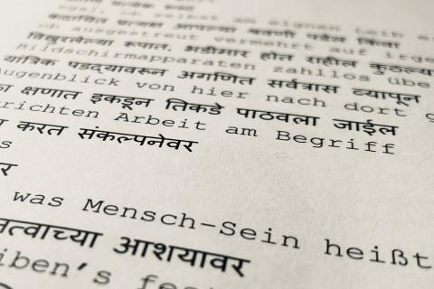 """Palmetshofers """"Die Verlorenen"""" übersetzt auf Marathi."""