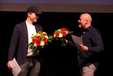 Die Preisträger der 43. Mülheimer Theatertage Thomas Köck und Oliver Schmaering / Foto: Marie-Luise Eberhardt
