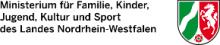 Logo des Ministerium für Familie, Kinder, Jugend, Kultur und Sport des Landes Nordrhein-Westfalen