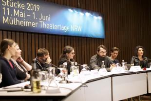 Publikumsgespräch mit Clemens Setz. / Foto: Anton Vichrov