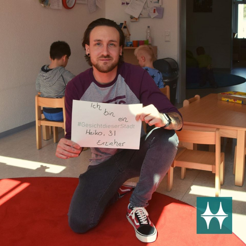Heiko: Erzieher in einer Kindertagesstätte, Gesicht dieser Stadt